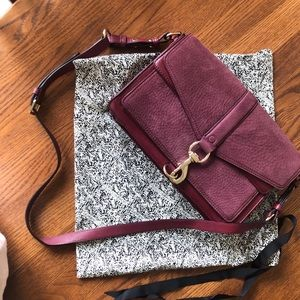 Rebecca Minkoff Hudson Moto Bag in Burgundy